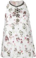 Giambattista Valli floral detail dress - women - Silk/Cotton/Polyester/Acetate - 42