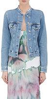 Acne Studios Women's Fry Denim Collarless Jacket-BLUE