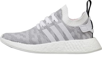 adidas Womens NMD_R2 Primeknit Trainers Footwear White/Footwear White/Core Black