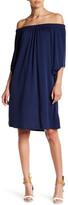 Bobeau Off-the-Shoulder Tie Sleeve Dress