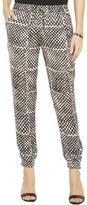 MICHAEL Michael Kors Womens Petites Graphic-Print Flat Front Casual Pants
