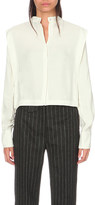 Sandro Mara cropped woven blouse