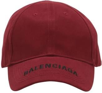 Balenciaga LOGO EMBROIDERED GABARDINE HAT
