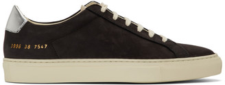 Common Projects Black and Silver Retro Low Special Edition Sneakers