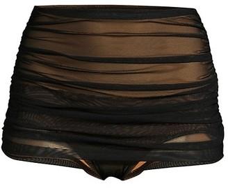 Norma Kamali Mesh Bill High-Waist Bikini Bottom