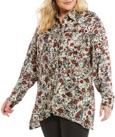 Westbound Plus Floral 2 Pocket Tunic Top