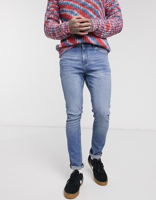 LDN DNM super skinny fit jeans in blue wash