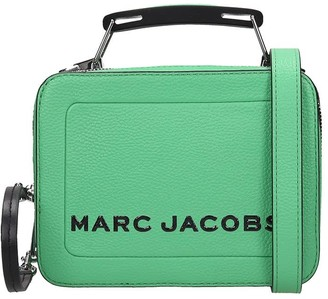Marc Jacobs Hand Bag In Green Leather