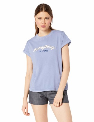 RVCA Women's Everything is FINE Classic FIT Short Sleeve T-Shirt