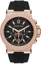 Michael Kors Men's Chronograph Dylan Black Silicone Strap Watch 48mm MK8557