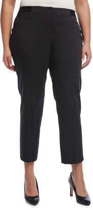 Lafayette 148 New York Plus Slim-Leg Cotton-Blend Ankle Pants, Plus Size