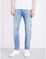 The Kooples Destroyed Slim-fit Tapered Jeans