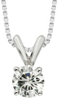 Charles & Colvard .50 CT. T.W. Round Forever Brilliant Moissanite Solitaire Prong Set Pendant in 14K White Gold