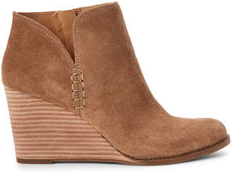 Lucky Brand Sesame Yimme Wedge Suede Booties