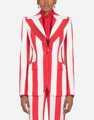 Dolce & Gabbana Striped Jacket In Cady