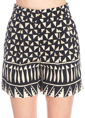 Alberta Ferretti Printed Tailored Shorts