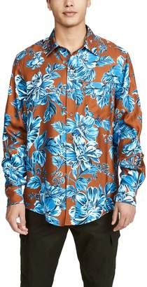 Ami Floral Long Sleeve Button Down Shirt