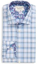 Ted Baker Men's 'Larsing' Trim Fit Plaid Dress Shirt