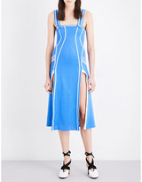 Richard Malone Split-hem Ribbed-knit Midi Dress