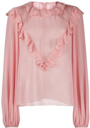 Giamba ruffle trim blouse