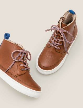 Cosy Leather Lace Up Boots