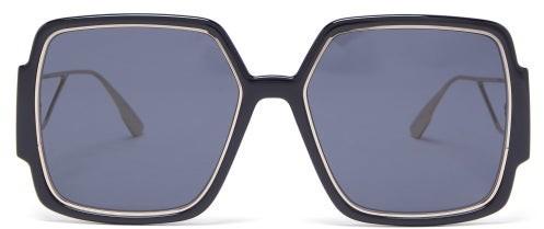 Christian Dior 30montaigne2 Square Acetate Sunglasses - Black