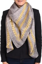Roberto Cavalli Women's Silk Scarf Gold Chain