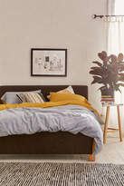 Urban Outfitters Alaina Upholstered Charcoal Platform Bed