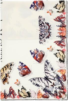 Alexander McQueen Butterfly Decay Silk Scarf