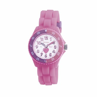 Tikkers Kids Time Teacher Pink Rubber/Silicone Strap Watch TK0003 Heart Design
