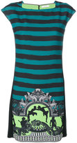 Versace striped mini dress - women - Polyester/Viscose - 38