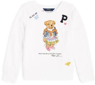 Ralph Lauren Kids Girly Polo Bear Sweatshirt (2-4 Years)