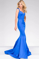 Jovani Cap Sleeve Fitted Sating Prom Dress 40720