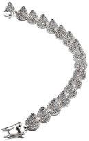 Eddie Borgo Small Pave Cone Bracelet, Silver Plate