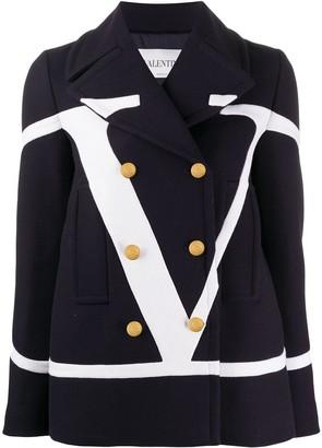 Valentino VLOGO double-breasted coat