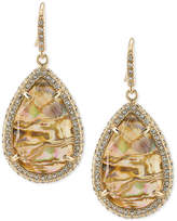 ABS by Allen Schwartz Gold-Tone Pave & Abalone Stone Drop Earrings