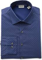 Kenneth Cole Reaction Men's Technicole Slim Fit Stretch Dash Print Dress Shirt