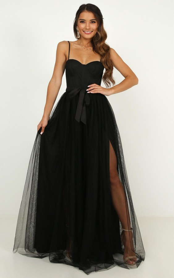 Showpo At the altar dress in black - 4 (XXS) Dresses