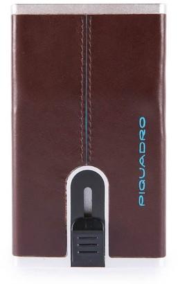 Piquadro Dark Brown Mens Card Holder Wallet