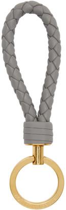 Bottega Veneta Grey Intrecciato Loop Keychain