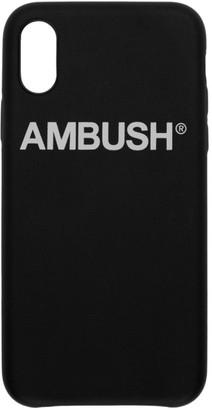 Ambush SSENSE Exclusive Black Logo iPhone X Case