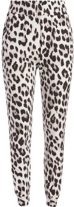 Alice + Olivia NYC leopard print track trousers