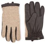 Topman Men's Mixed Media Gloves