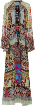 Etro Patterned Silk-Georgette Maxi Dress