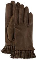 Rebecca Minkoff Leather Mini-Tassel Gloves, Olive