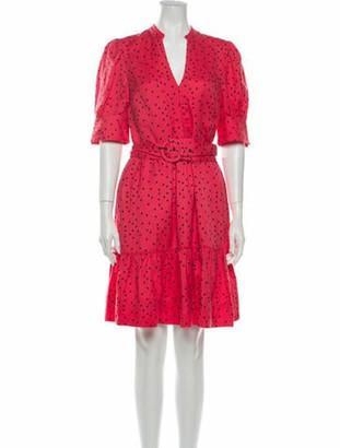 Rebecca Vallance Polka Dot Print Knee-Length Dress Pink