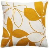 Judy Ross Textiles Flora Cream/Marigold Pillow