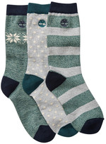 Timberland Assorted Cooltouch Crew Socks - Pack of 3