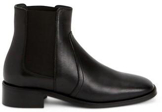 Aquatalia Tamera Block-Heel Leather Chelsea Boots