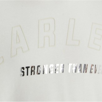 River Island Girls Fearless Cut Out Sweat-White